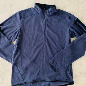 Arc'teryx Delta LT Fleece Mens Large Blue 1/2 Zip